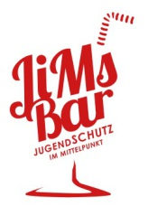 JiMs Bar Logo: der Schriftzug ist ein Cocktailglas mit Strohalm