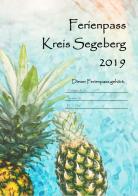 neues Designe des Ferienpasses ab 2019, hier: Ananas treiben im Pool