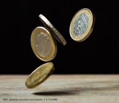 Symbolbild: Freistellung, Verdienstausfall & Entschädigung: Geldmünzen